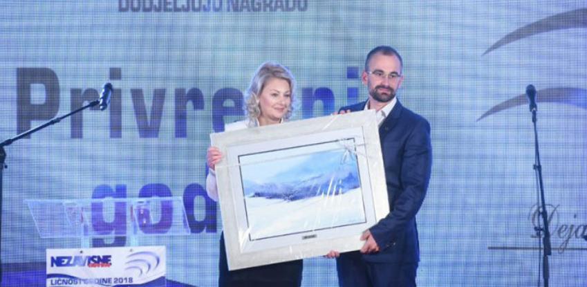 """Nagrada privrednik godine u ruke direktora """"Olimpijskog centra Jahorina"""""""