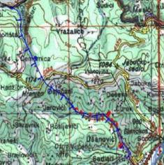 U toku međunarodni tender za projekat ceste Goražde - Sarajevo Mapa trase iz projektnog zadatka.