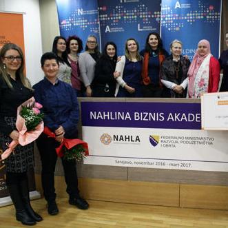 U okviru petomjesečne obuke Nahline Biznis akademije organizovana je svečana dodjela nagrade za najbolji biznis plan.
