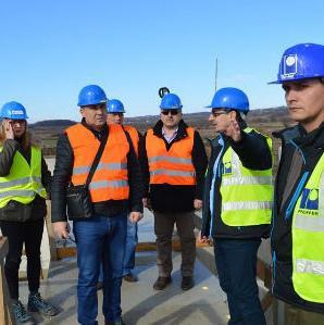 """Delegacija grada Bihaća posjetila je danas radove na komponenti II u Velhovu koja se odnosi na """"Projekat odvodnje i prečišćavanja otpadnih voda""""."""