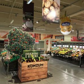 Svakodnevnom i kontinuiranom ponudom svježeg voća i povrća Konzum omogućava potrošačima da brinu o zdravlju, ispunjavajući tako jedan od osnovnih postulata poslovanja.