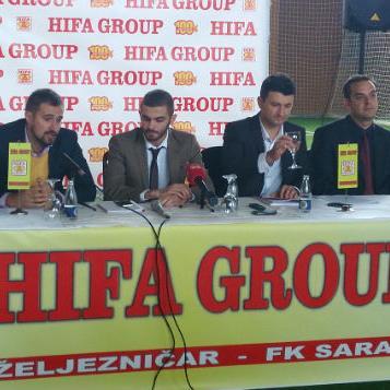 Bosanskohercegovačka naftna kompanija HIFA Group potpisala je danas sponzorske ugovore s dva sarajevska fudbalska kluba Željezničarom i Sarajevom.