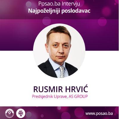 """Rusmir Hrvić, predsjednik uprave """"AS GROUP-e"""" ističe da im priznanje Najpoželjniji poslodavac imponuje."""
