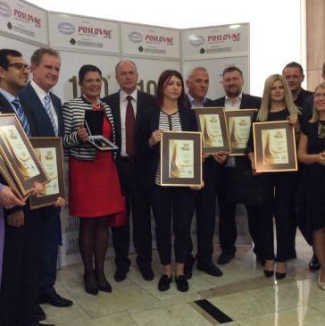"""Priznanja """"100 najvećih u BiH"""", dodijelila su se velikim, srednjim i malim kompanija u BiH na osnovu analize rezultata njihovog poslovanja u prošloj godini."""
