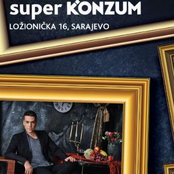 Regionalna muzička zvijezda će potpisivati CD-ove, družiti se s fanovima, a Konzum BiH je kupce obradovao i ulaznicama za koncert