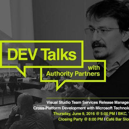 Authority Partners poziva sve programere željne sticanja i širenja znanja o najnovijim temama iz IT svijeta, da prisustvuju prvom DEV Talks eventu u Tuzli.