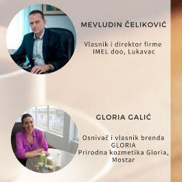 Govornici 15.Business cafe-a su Mevludin Čeliković, direktor kompanije Imel doo, Lukavac i mlada poduzetnica Gloria Galić.
