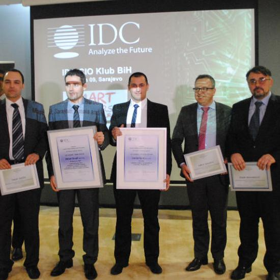Adnan Strojil, head of the IT department of the PE Highways FBiH d.o.o. Mostar and Danijel Galić, head of the IT department of the company Violeta, are the winners of the first awards that the IDC granted to the best CIOs and their projects in BiH.