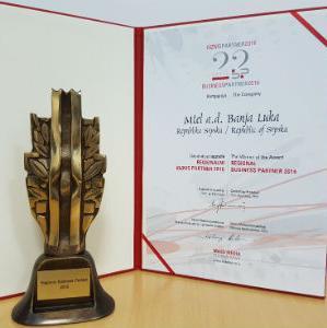 Kompanija M:tel dobitnik je regionalne nagrade Biznis Partner 2016 koju dodjeljuje kompanija Mass Media International iz Beograda.