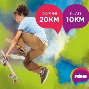 Želiš li da kupiš dopunu od 20 KM obradovaćete informacija da ćeš umjesto 20 KM, ovu dopunu platiti samo 10 KM, a na računu ćeš na raspolaganju imati 20 KM.