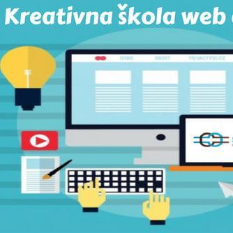 """Edukacija """"Kreativna škola web designa"""" sastoji se iz dva dijela (teorijski i praktični)."""
