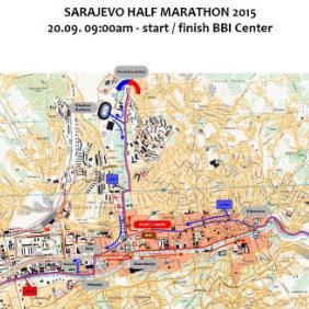 Deveti Coca-Cola Sarajevo polumaraton i Novo Nordisk Fun Run utrka/šetnja za građane dužine 4 kilometra, održat će se 20. septembra 2015. godine sa početkom u 9 sati ispred BBI Centra.