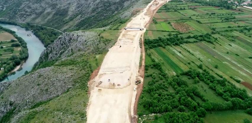 Pogledajte kako izgleda izgradnja autoceste na poddionici Buna - Počitelj