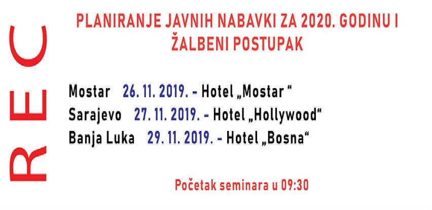 Planiranje javnih nabavki za 2020. godinu i Žalbeni postupak