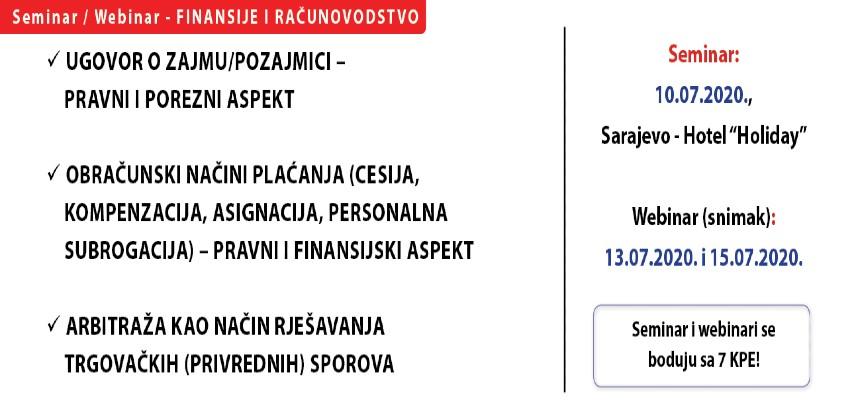 Seminar/webinar za računovođe i pravnike