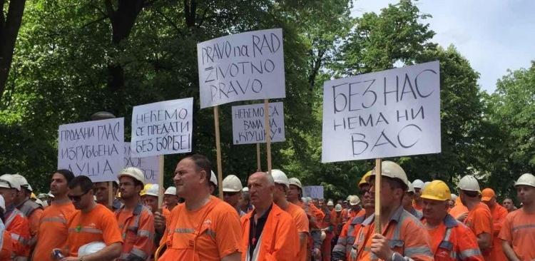 Protest oko 600 radnika prijedorskog Mittala u Banjoj Luci