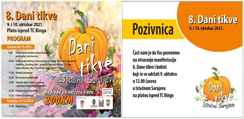 U Istočnom Sarajevu za vikend 'Dani tikve'