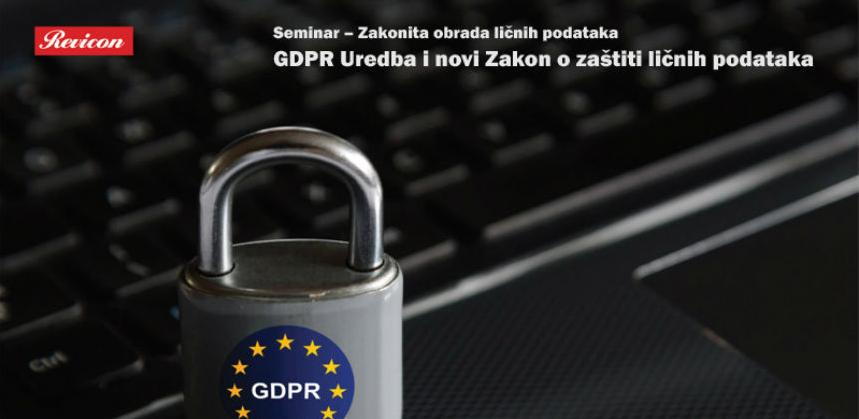 Revicon seminar: GDPR Uredba i novi Zakon o zaštiti ličnih podataka