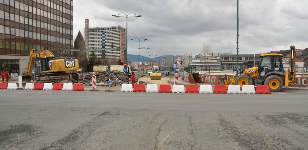 Počeli radovi na kružnom toku na spoju ulica Hamdije Čemerlića – Put života
