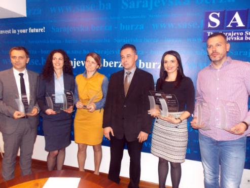 Dodijeljena priznanja najuspješnijim članovima Sarajevske berze