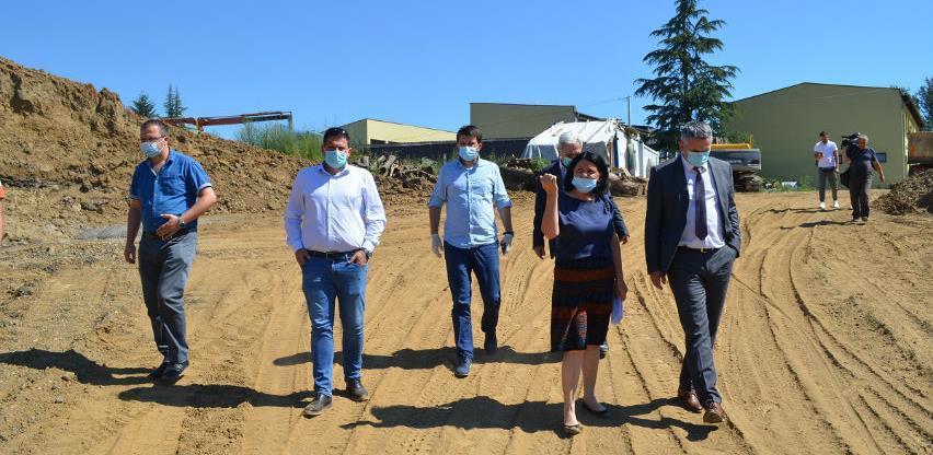 Milić, Kadrić i Burgić obišli radove na regulaciji korita Blizne i Brke