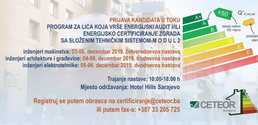 CETEOR: Program za lica koja vrše energijski audit