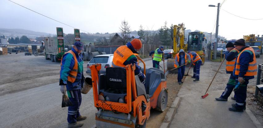 Efendić obišao radove na rekonstrukciji vodovodne mreže u Rajlovcu