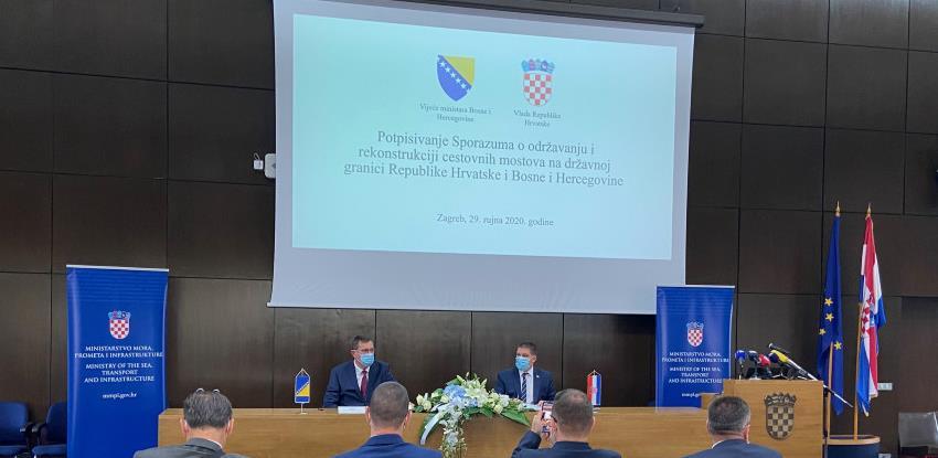 BiH-Hrvatska: Potpisan Sporazum o održavanju i rekonstrukciji cestovnih mostova