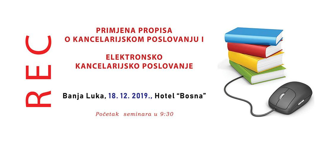 REC seminar: Elektronsko kancelarijsko poslovanje