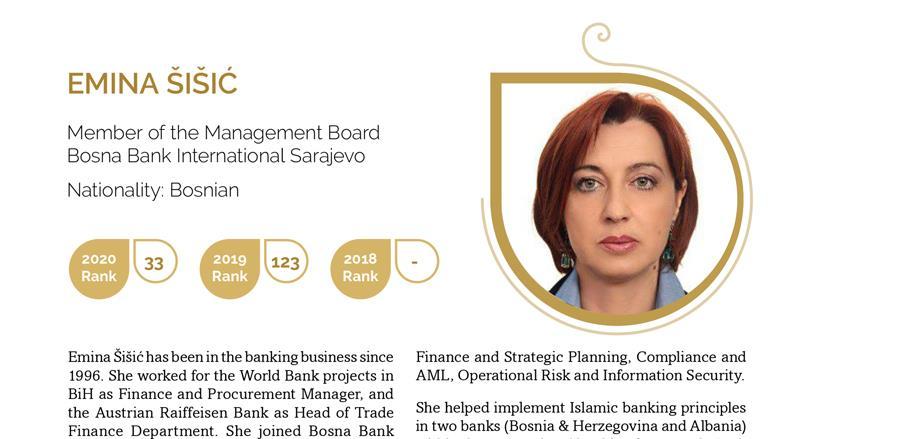 Priznanje za članicu Uprave Bosna Bank International d.d. Sarajevo
