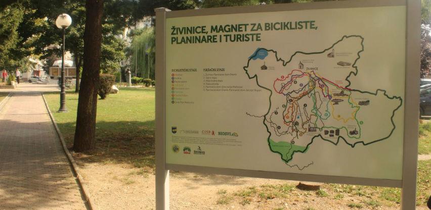 Živinice dobile mape sa označenim stazama za bicikliste, planinare i turiste