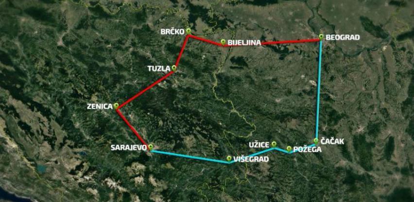 Određene zajedničke tačke na autocesti Sarajevo - Beograd