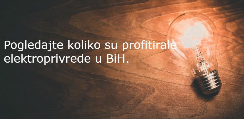 Evo koliko su profitirale tri elektroprivrede u BiH
