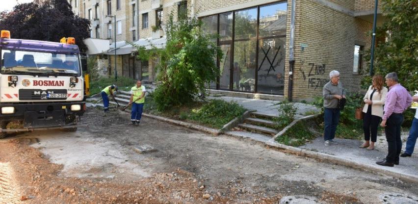 Bosman vrši sanaciju dijela Ulice Ismeta Mujezinovića u općini Centar