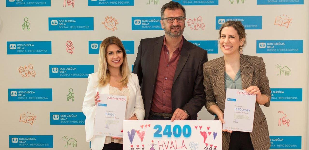 CHICovnik i Bingo kupci donirali 2.400 KM za troškove SOS porodice