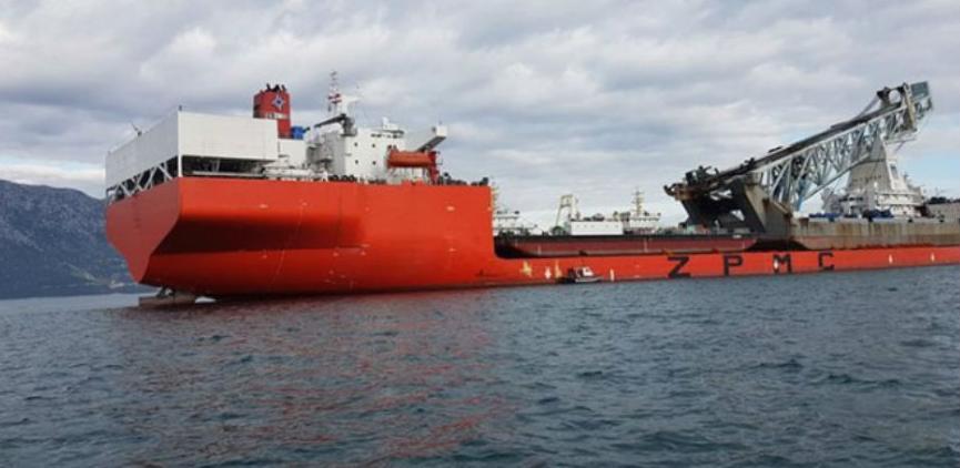 Stigao brod sa opremom za izgradnju Pelješkog mosta