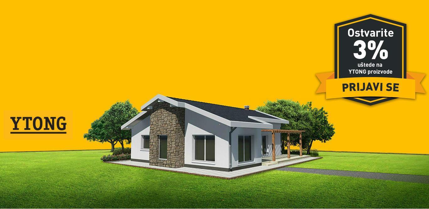 Ytong kuća napravljena od vrhunskih energoblokova i štedi za Vas!