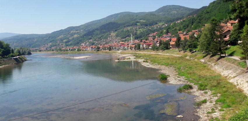 Određena širina zemljišta priobalnog pojasa rijeke Drine u Goraždu