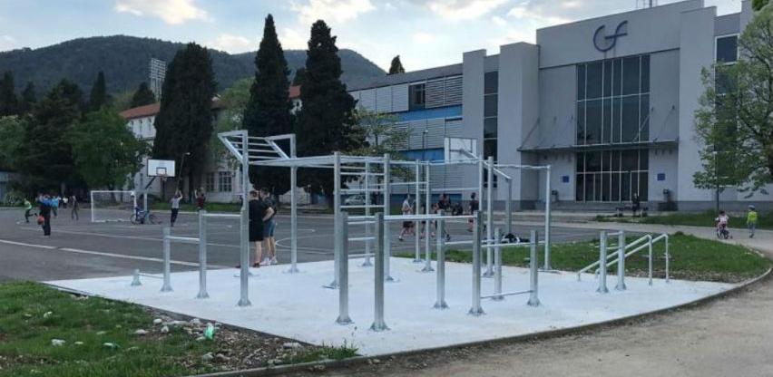 Na kampusu Sveučilišta u Mostaru otvoren novi street workout park