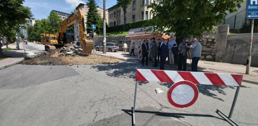 U Sarajevu počela rekonstrukcija Bolničke i ulice Koševo vrijedna 700 hiljada KM