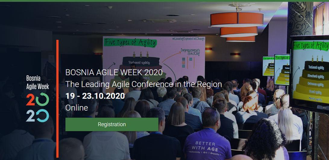 14 sjajnih predavanja vrhunskih Agile stručnjaka u Agile sedmici BAWEEK2020
