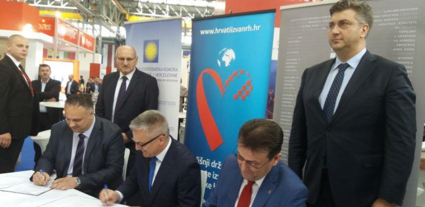 Gospodarske komore Hrvatske i Federacije BiH potpisale Sporazum o suradnji