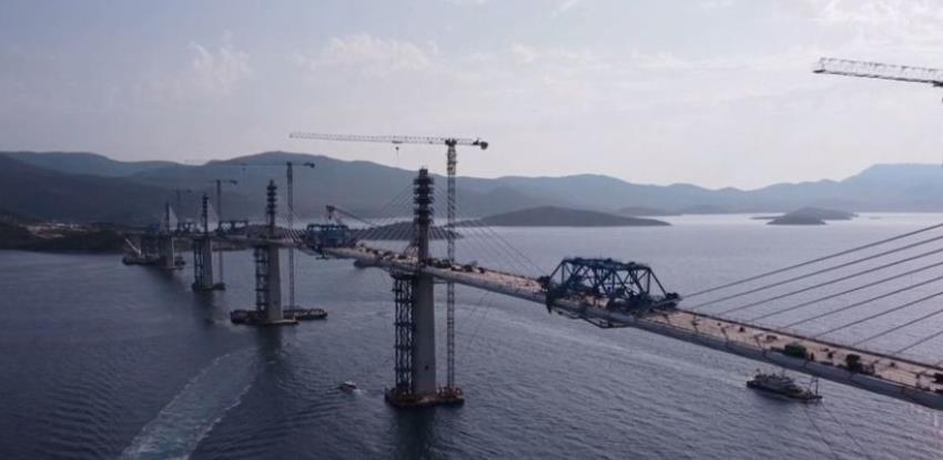 Zadnji segment konstrukcije Pelješkog mosta spojit će se 28. srpnja
