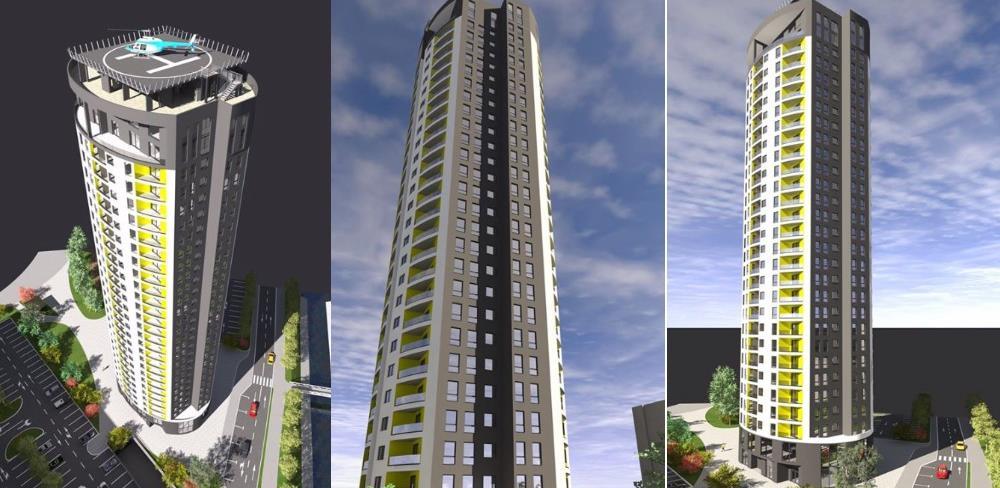 Objekat sa 26 spratova i heliodromom: Pogledajte kako će izgledati Tuzla Tower