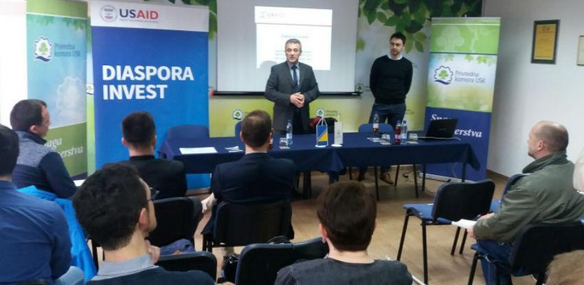 Projekt Diaspora Invest prilika za povećanje investicija iz dijaspore u USK-u