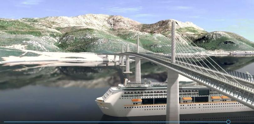 Hrvatske ceste objavile simulaciju izgleda Pelješkog mosta