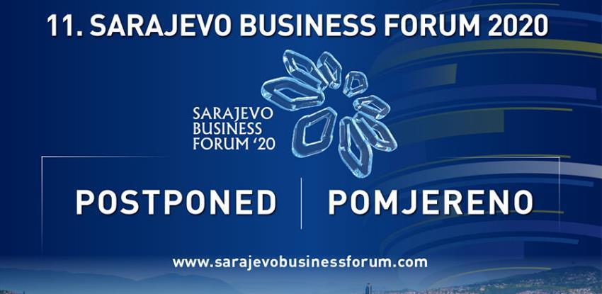 11. Sarajevo Business Forum 2020 načelno odgođen za jesen