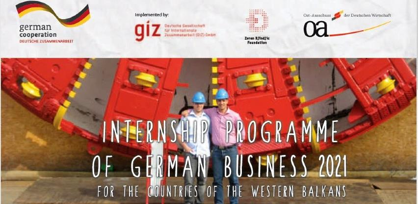 Program stipendija njemačke privrede za 2021. godinu