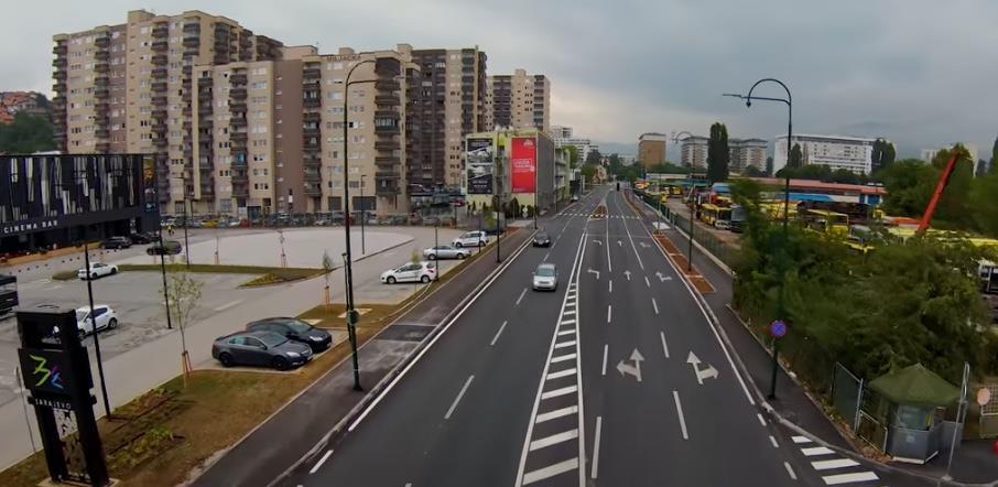 Ulica Džemala Bijedića sa 2 proširena na 4 trake