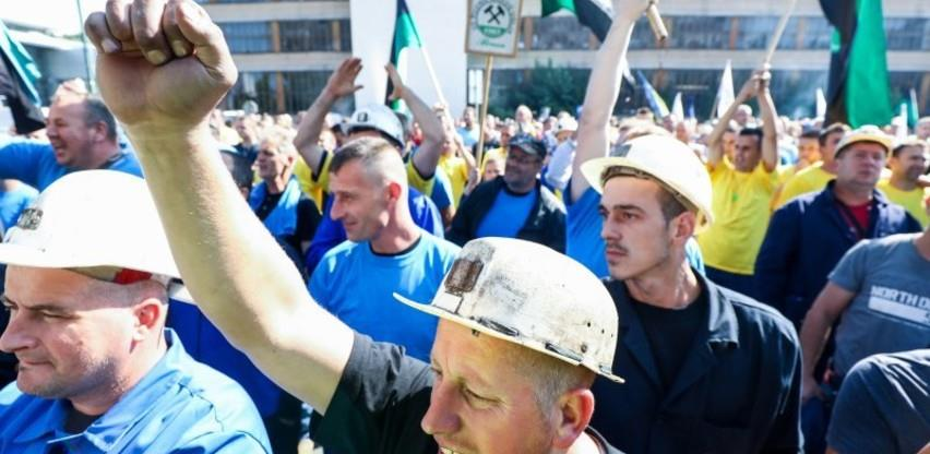 1.maj: Rudari iz cijele FBiH protestvuju u Sarajevu